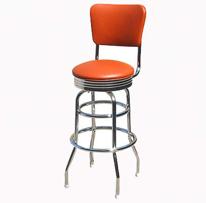 Barstool with Curved Back